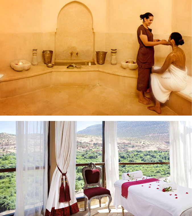 Traditional Moroccan spa treatment, Hamman treatment, luxury spa, Asounfou spa,Kasbah Tamadot, Morocco, Marrakech, Luxury honeymoon, Top honeymoon destination, Sir Richard Branson retreat
